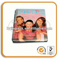 metal cover spiral notebook for school boys & girls