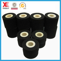 BLACK compatible solid ink Hot Printing ink roller /hot ink roller for label batch number coding in dairy packaging bags