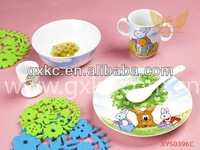 Ceramic fine porcelain cute rabbits kids dinner sets(XYS0396C)