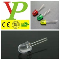 red green yellow blue amber white round type 10mm led diode