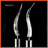 NHHJ204-S Newly Metal natural decorative cow horn craft