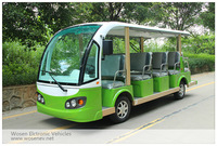 14 seats electric car electric shuttle bus 72V/5000W electric sightseeing car for sale