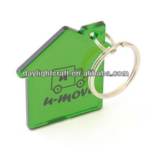 Promotional House Shape Acrylic keyring