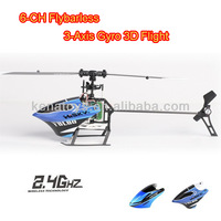 2.4G Flybarless Aeromodelling 6-CH RC Helicopter,3D Flight Model with 3axis Gyro remote control helcopter