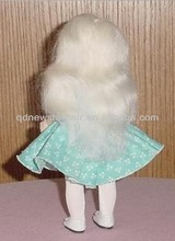 2016 New Fashion Wholesale Cheap White Straight Mohair Doll Wig For Ginger Doll