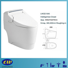 Electric smart toilet siphonic jet flushing intelligent toilet