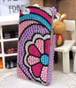 flip cover phone case 3d crystal stone mobile phone case