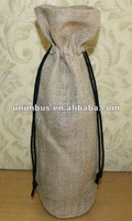 jute fabric wine bag