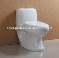Toilet with Dual Flush Systems and PP Soft Closing Seat Cover