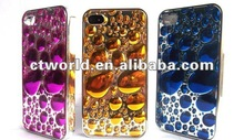 Water drops electroplating case for Iphone4/4s