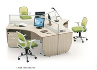 Hot modern office desk office table for 3 person workstation desk with melamine MDF finishing (JO-7030)