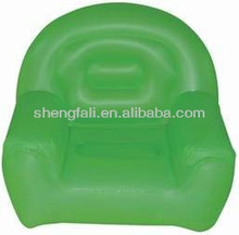 Comfortable inflatable green sofa for customers