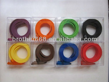 2012 fashion and promotion Colorful silicone belt with FDA&SGS Test approval