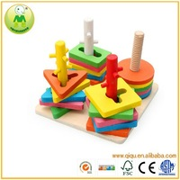 Math Shape Geometric Educational Wooden Block Set