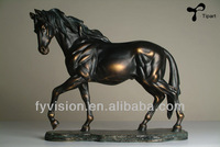 Antique abstract bronze brass horse sculpture