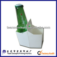 2 Packed Beer&Wine Bottles Packaging Cardboard Carrier