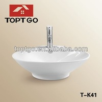Hot Selling Ceramic One Piece Bathroom Sink and Countertop T-K41
