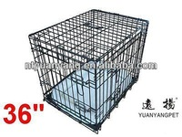 pet supplies Dog Puppy Pet Cage Carrier Crate In black with bedding