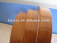 pre-glued high gloss wood grain pvc edge band for furniture