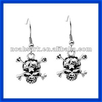 2014 Latest Skull Dangle Earrings TPSE599# China Supplier