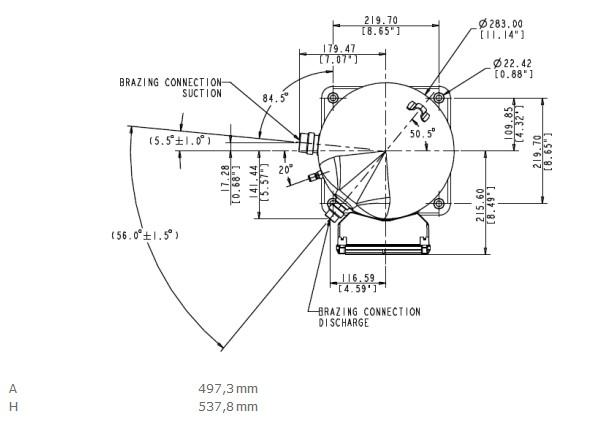 R134a Refrigeration Copeland Copelametic Compressor Zh75k4e Tfd