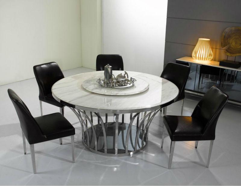 8 plazas mesa de comedor de piedra de mármol blanco mesas de ...