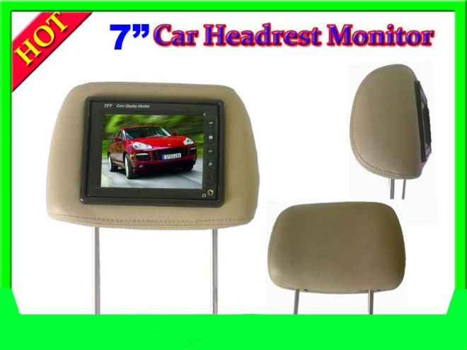 7 inch Universal car rearview TFT Monitor with pillow,headrest pillow monitor