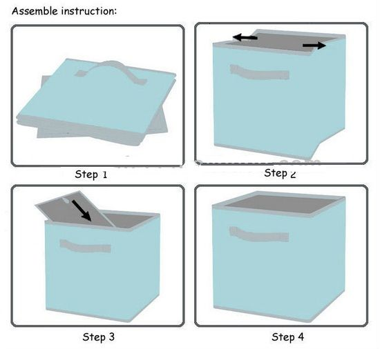 home storage tote box