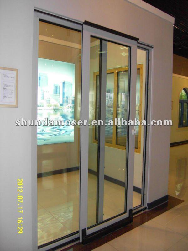 MOSER Deutsch Stil Holztür Mit Aluminiumverkleidung Doppelverglasung Glas  Schiebetür, Küche Tür