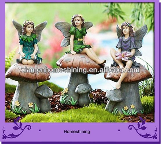 garden mushroom fairy statues