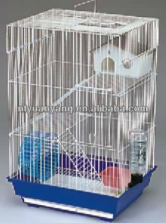 White Big Metal Ferret hamster Cage Chinchilla hamster cage with plastic house