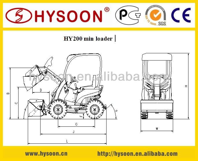 23HP HY200 mini loader   lawn mower