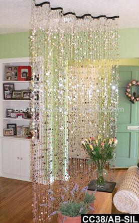 acrlico burbujas de champn de plata ondulado cortina de cuentas separadores de ambiente