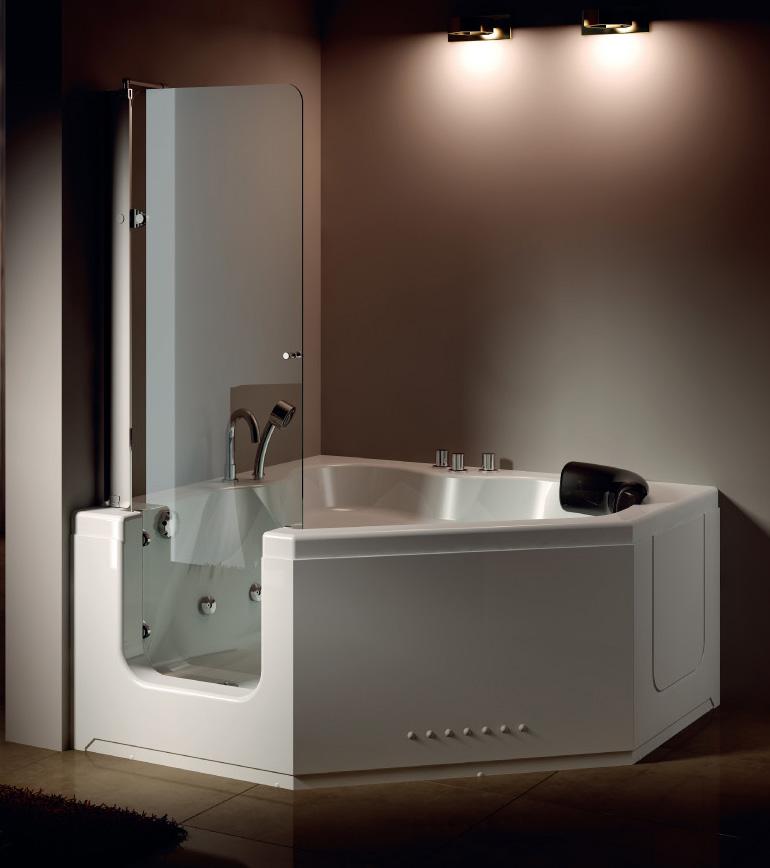 Wooden Bathtub Shower Combo