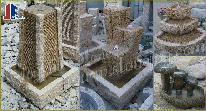 piedra natural jardn fuentes de agua boulder piedra fuente de agua