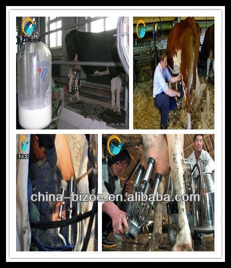 China portable penis milking machine piston single bucket for sale