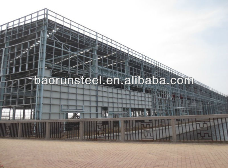 Prefab steel structure warehouse to Central Africa country
