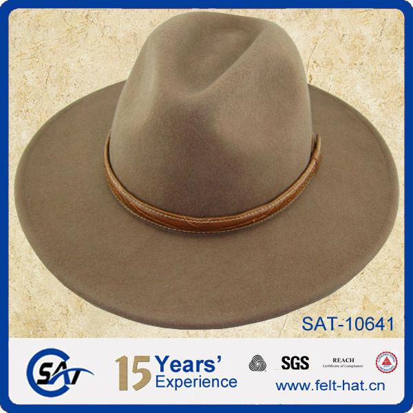 Wide Brim Wool Felt Fedora Hat