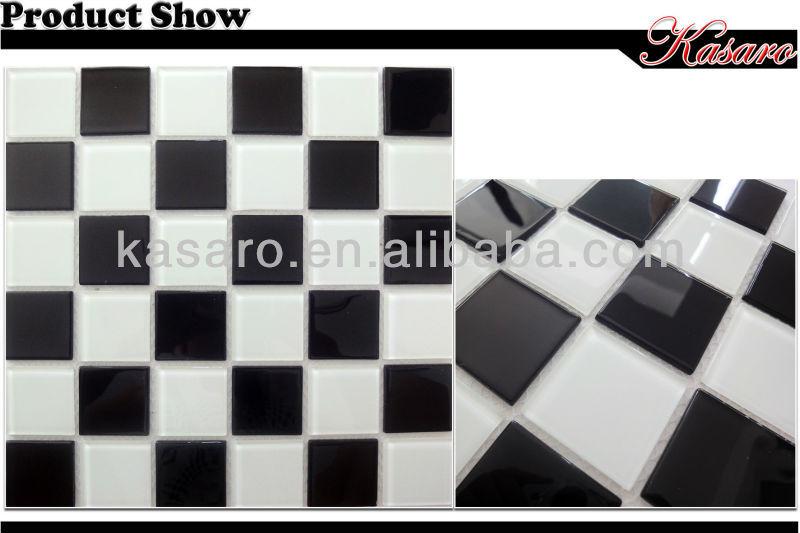 Zwart wit mozaã¯ek glazen tegel keuken tegel behang tegel mozaã¯ek