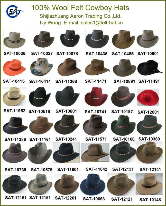 Mens 100 Wool Felt Western Cowboy Hat Buy Wool Felt Cowboy Hat Waterproof And Crashable Wool Felt Cowboy Hat Cowboy Hat Product On Alibaba Com