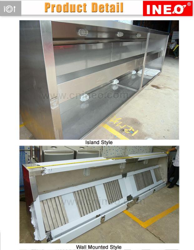 Custom Hotel Restaurant Stainless Steel Commercial Kitchen Hood ...