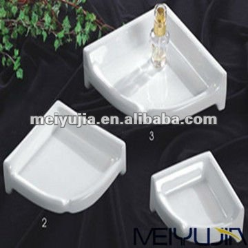 different size square soap plate ceramic bathroom accessories set for shower