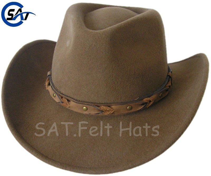 Beige Color 100% Wool Felt Cowboy Hat Oem And Wholesale - Buy Wool ... 475004dc113