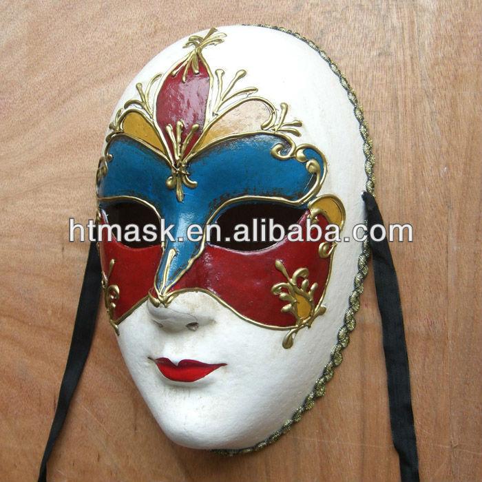 El Boyama Maskesi Tam Yüz Maskesi Kağıt Halloween Parti Maskesi