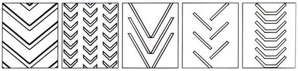 Vulcanized spliced endless chevron pattern rubber conveyor belt