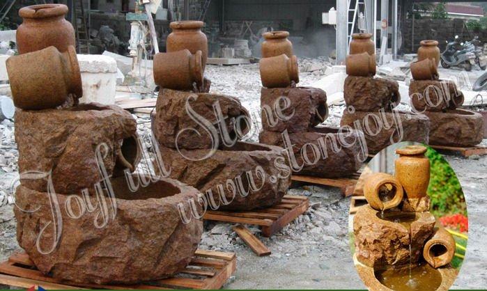 Piedra natural piedra de basalto fuentes del jard n del - Piedras decorativas jardin precio ...