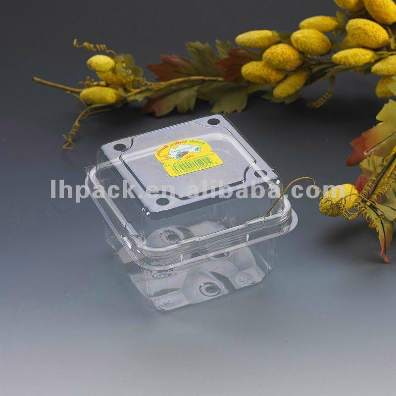 Custom Fresh Fruit Punnet Plastic Packaging Transparent Container