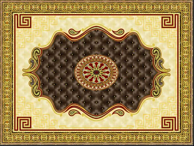 Tappeto oro lucido piastrelle in ceramica per pavimenti di