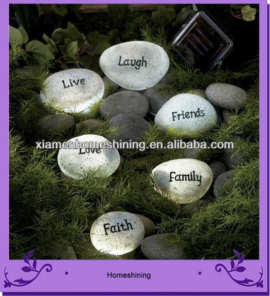 harpiks håndværk ledet sten lys med ord