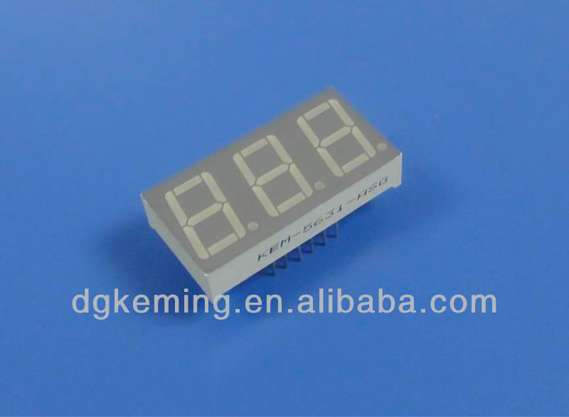 Manufacturer elt-511surwa/s530-a3 everlight digital led 3 digit 7 segment display